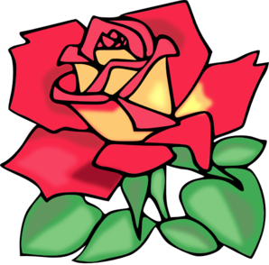 Red Rose With Leaves Clipart png free, Red Rose With Leaves transparent png