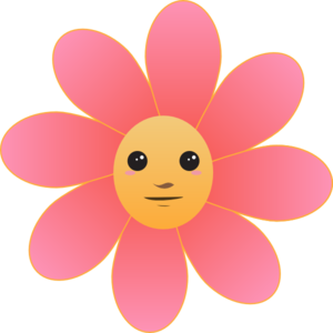 Cute Flower Face Clipart png free, Cute Flower Face transparent png