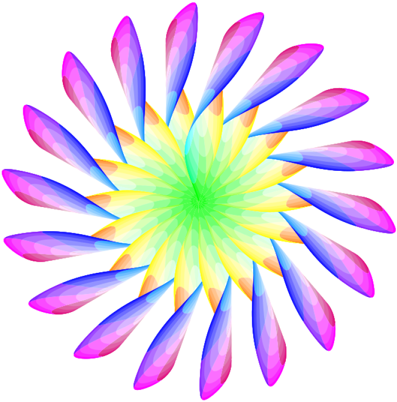 Yellow Blue Flower Clipart png free, Yellow Blue Flower transparent png