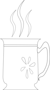 Coffee Cup With Flowers Clipart png free, Coffee Cup With Flowers transparent png
