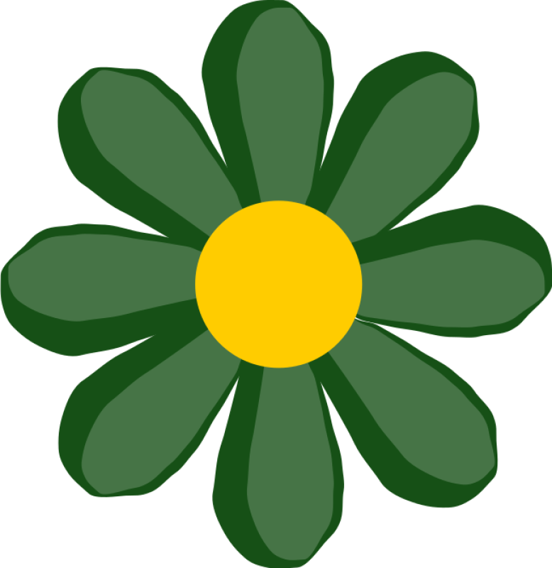 Green Flower Clipart png free, Green Flower transparent png