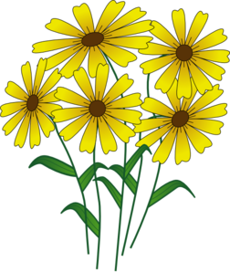 Golden Flower  Clipart png free, Golden Flower  transparent png
