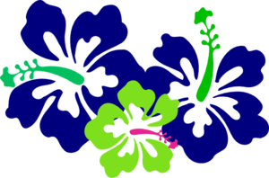 Hibiscus Green Blue Clipart png free, Hibiscus Green Blue transparent png