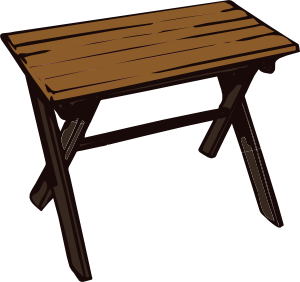 Collapsible Wooden Table Clipart png free, Collapsible Wooden Table transparent png