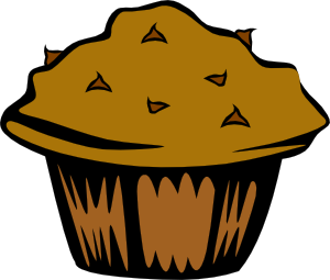 Double Chocolate Muffin Clipart png free, Double Chocolate Muffin transparent png
