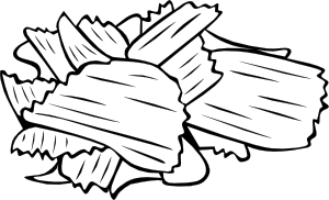 Potato Chips (B And W) Clipart png free, Potato Chips (B And W) transparent png