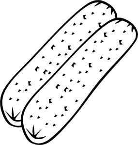 Breakfast Sausage (B And W) Clipart png free, Breakfast Sausage (B And W) transparent png