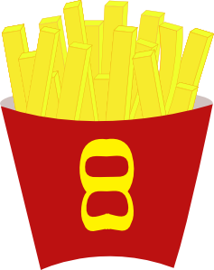 French Free Fries Clipart png free, French Free Fries transparent png