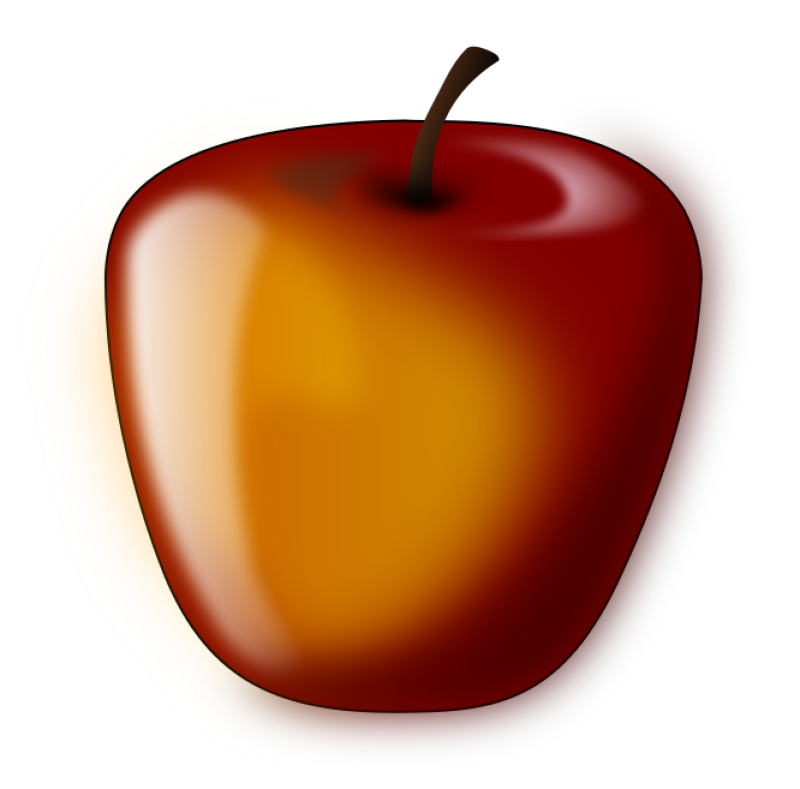 Red Apple Clipart png free, Red Apple transparent png