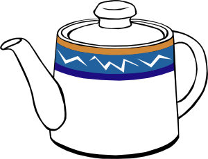 Porclain Tea Kettle Clipart png free, Porclain Tea Kettle transparent png