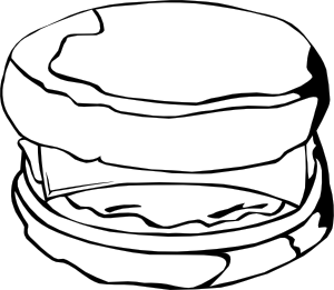 Fast Food Breakfast Egg And Cheese Biscuit Clipart png free, Fast Food Breakfast Egg And Cheese Biscuit transparent png