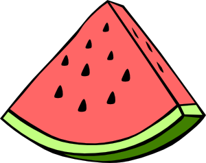 Piece Of Water Mellon Clipart png free, Piece Of Water Mellon transparent png