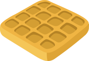 Waffles Clipart png free, Waffles transparent png