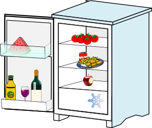 Fridge With Food Jhelebrant Clipart png free, Fridge With Food Jhelebrant transparent png