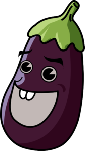 Cartoon Eggplant Clipart png free, Cartoon Eggplant transparent png
