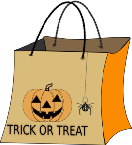 Trick Or Treat Bag Clipart png free, Trick Or Treat Bag transparent png