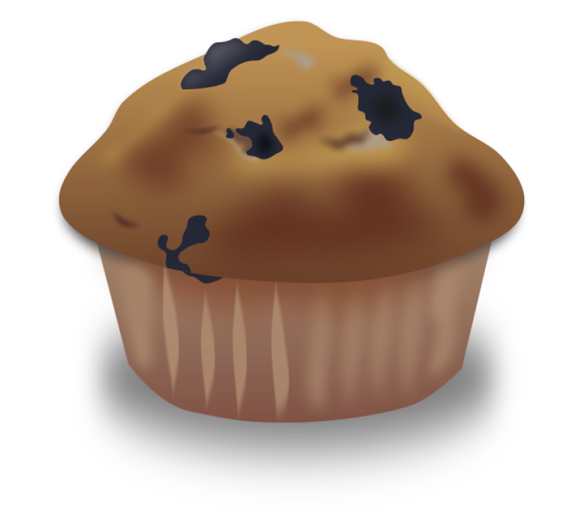 Blueberry Muffin Clipart png free, Blueberry Muffin transparent png