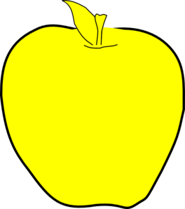 Yellow Apple Clipart png free, Yellow Apple transparent png