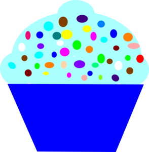Cupcake Blue  Clipart png free, Cupcake Blue  transparent png