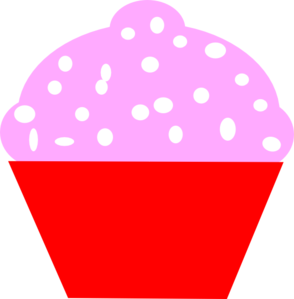 Cupcake Red Pink Circle Clipart png free, Cupcake Red Pink Circle transparent png