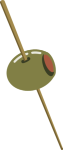 Olive On Toothpick Clipart png free, Olive On Toothpick transparent png