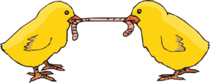 Chicks Fighting For A Worm Clipart png free, Chicks Fighting For A Worm transparent png