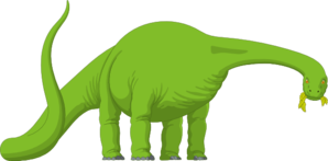Brachiosaurus Eating Leaves Clipart png free, Brachiosaurus Eating Leaves transparent png