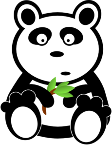 Cartoon Panda With Bamboo Leaves Clipart png free, Cartoon Panda With Bamboo Leaves transparent png
