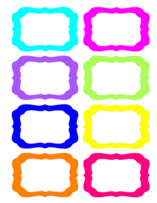 Colorful Tags Clipart png free, Colorful Tags transparent png
