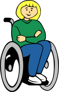 Girl In Wheelchair Clipart png free, Girl In Wheelchair transparent png