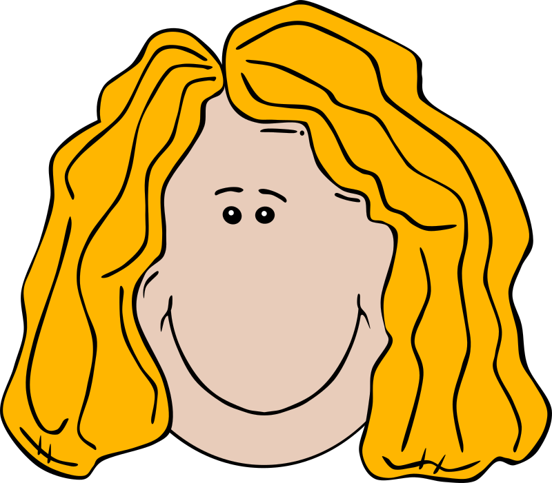 Lady Face Cartoon Clipart png free, Lady Face Cartoon transparent png
