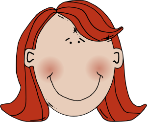 Womans Face With Red Hair Clipart png free, Womans Face With Red Hair transparent png