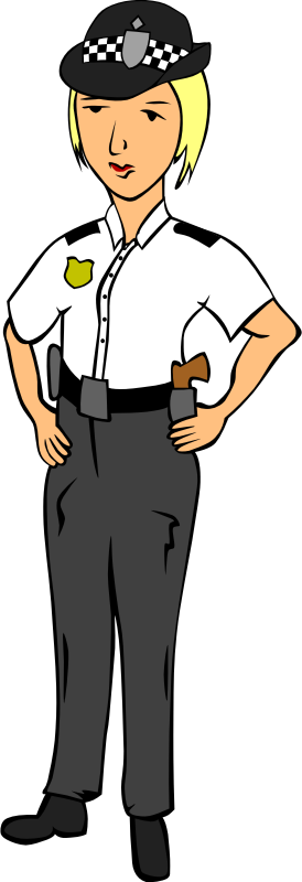 Woman Police Officer Clipart png free, Woman Police Officer transparent png