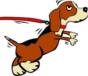 Dog On Leash Cartoon Clipart png free, Dog On Leash Cartoon transparent png