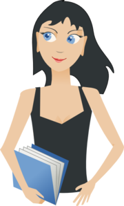 Student - Girl With Book Clipart png free, Student - Girl With Book transparent png
