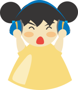 Girl With Headphones Clipart png free, Girl With Headphones transparent png