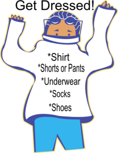 Chore: Get Dressed Clipart png free, Chore: Get Dressed transparent png