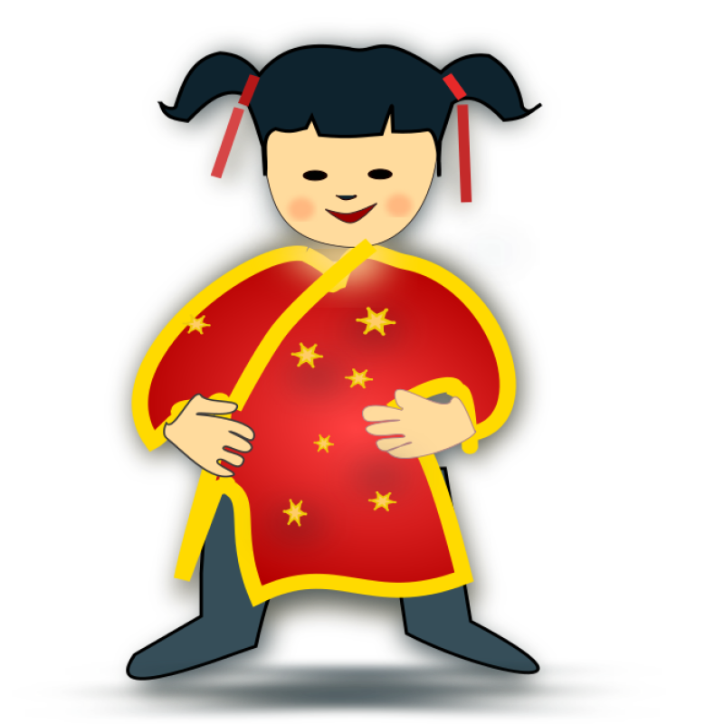 Chinese Girl Clipart png free, Chinese Girl transparent png