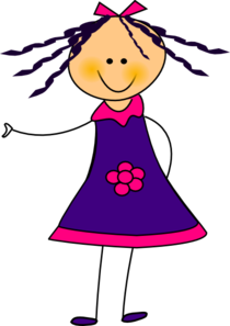 Purple Dress Girl Clipart png free, Purple Dress Girl transparent png