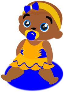 Blue &Yellow Baby Clipart png free, Blue &Yellow Baby transparent png