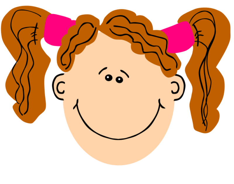 Girl With Pigtails Clipart png free, Girl With Pigtails transparent png