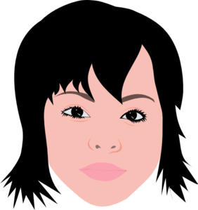 Asian Girl With Short Hair Clipart png free, Asian Girl With Short Hair transparent png
