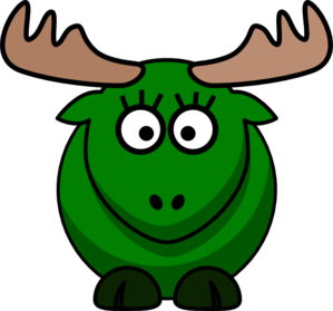 Girl Green Moose Clipart png free, Girl Green Moose transparent png