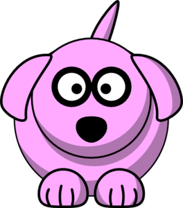 Pink Cartoon Dog Clipart png free, Pink Cartoon Dog transparent png