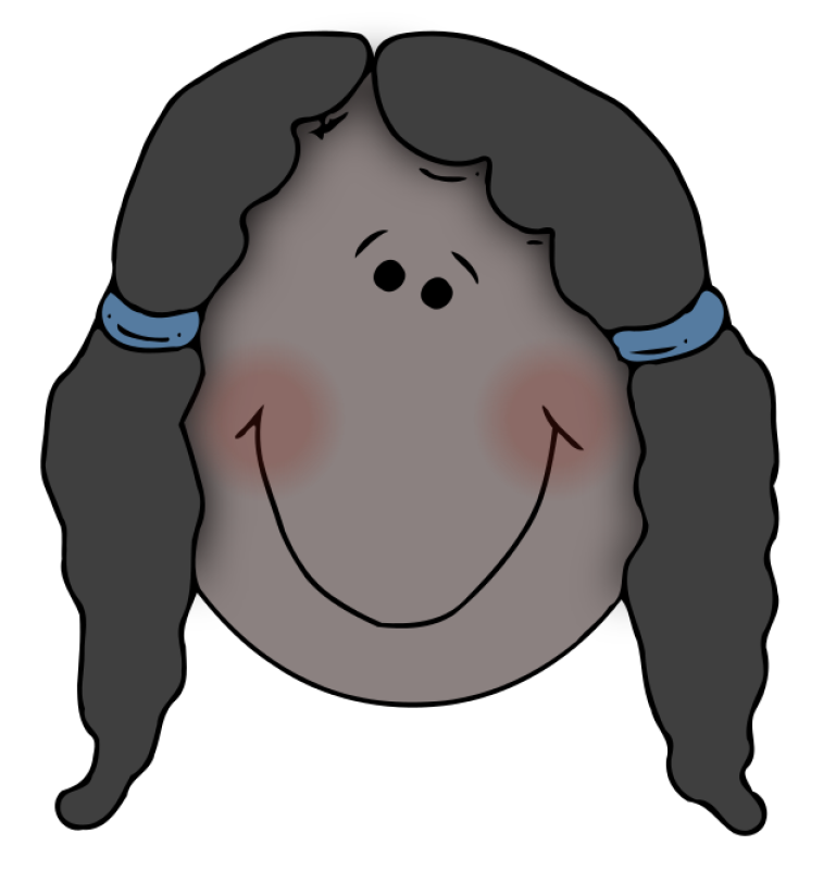 Girl Face Clipart png free, Girl Face transparent png