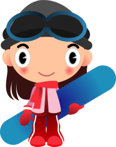 Girl With Snowboard Clipart png free, Girl With Snowboard transparent png