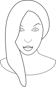 Female Face Clipart png free, Female Face transparent png