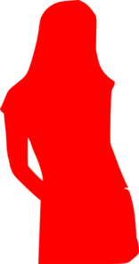 Girl Red Silhouette Clipart png free, Girl Red Silhouette transparent png