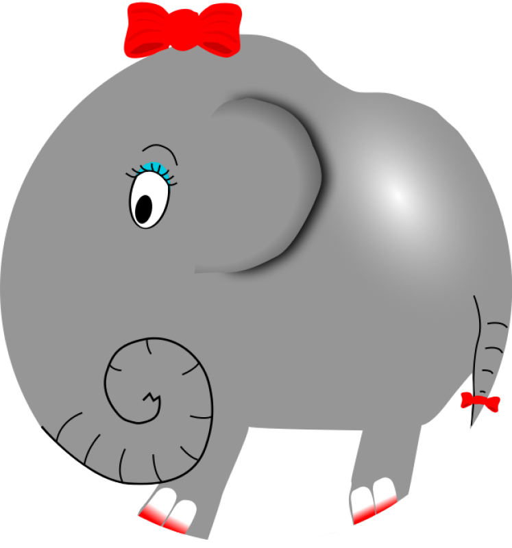 Girl Elephant Clipart png free, Girl Elephant transparent png