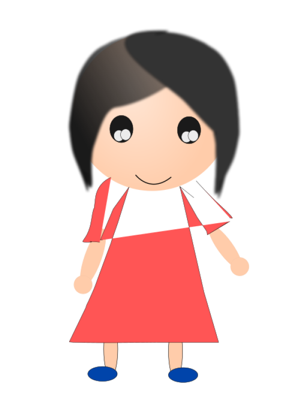 Girl In Red Dress Clipart png free, Girl In Red Dress transparent png